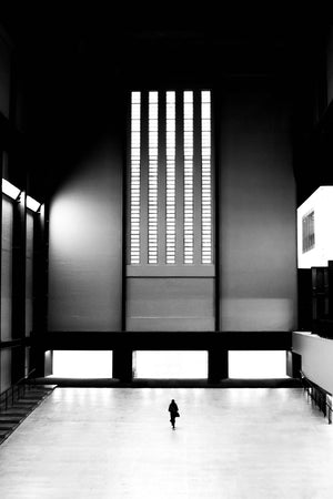 Alone in the Tate - Limited run 60 x 80 cm framed print