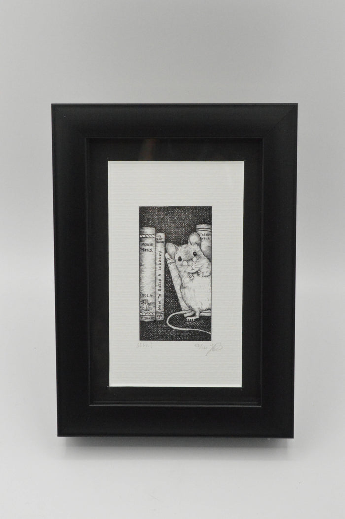 Shhhh! - Framed Limited Edition Print by Jenny Davies
