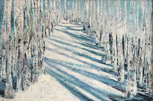 SILVER BIRCHES IN THE SNOW - ORIGINAL