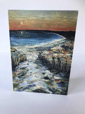 SUNSET IN THE DUNES - CARD