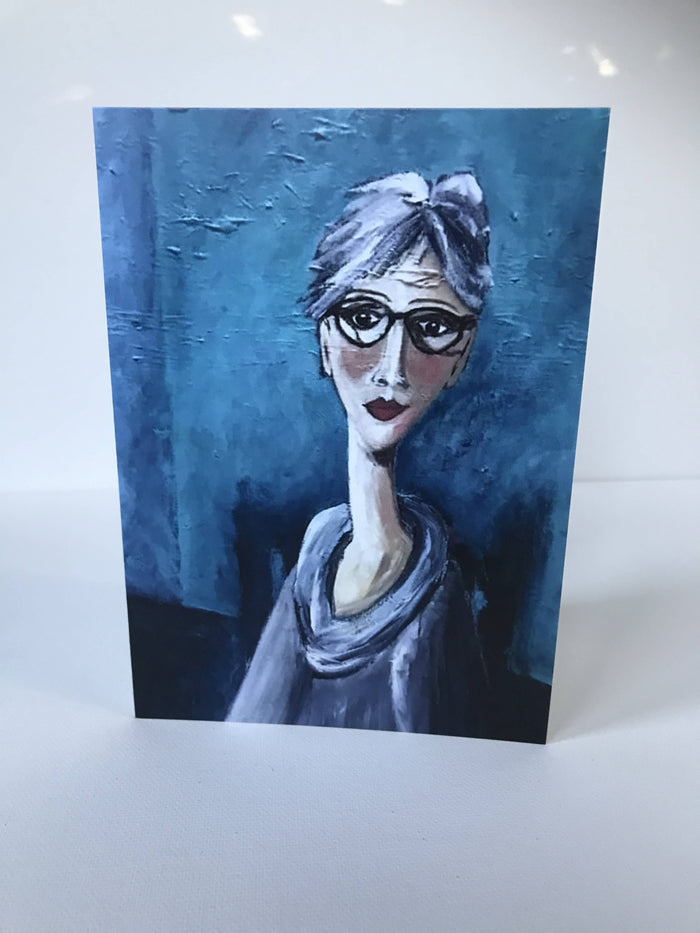 SELF PORTRAIT MODIGLIANI STYLE - CARD