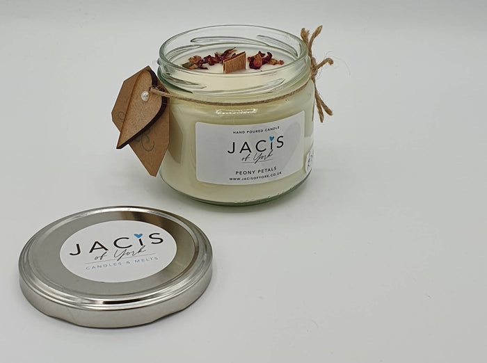 300ml Hand poured Jar Candle - Peony Petals