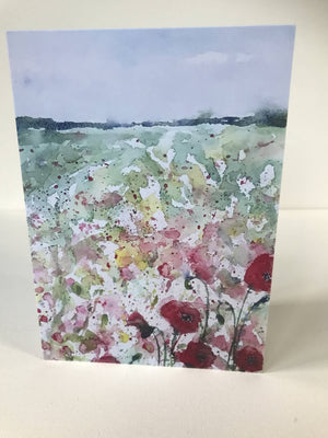 LINCOLNSHIRE POPPIES - CARD