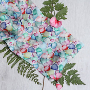 Double sided silk scarf Bloom