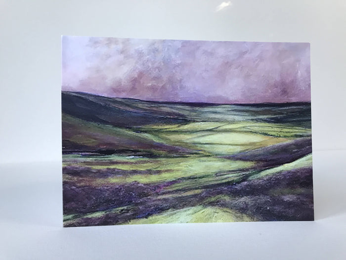 Heather on the Moors III - card