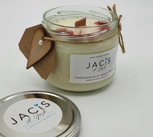 Jacis of York Pomegranate and Vanilla 300ml Jar Candle