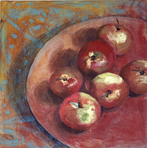 Rosy Apples - card