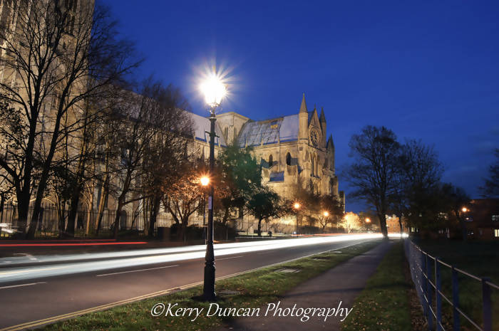 "Night At The Minster 12""x8"" canvas"