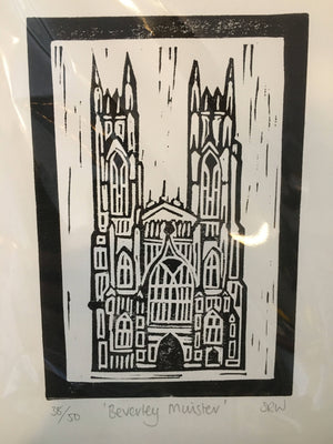 Unframed limited edition lino prints - 2 - Assorted