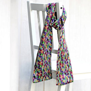 Double sided silk scarf North Moors