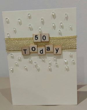 3. 18 today (18, 21, 30, 40, 50. 60) Gold and Embellished Birthday Card