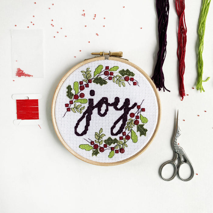 Christmas Cross Stitch Kit - Joy