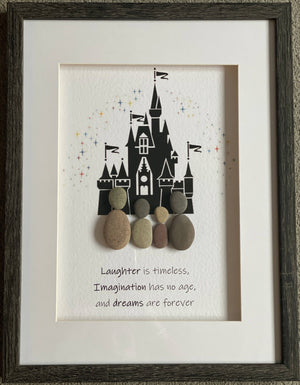 Magic Castle Laughter with 4 pebbles- Large