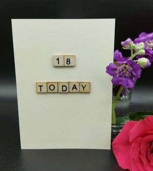 1. 18 Today (18, 21,30, 40, 50, 60) Birthday Card