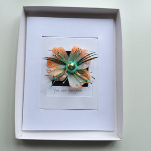 Art miniature flowers