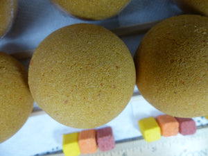 Citrus Blend Bath Bomb with Essential Oils and Embeds