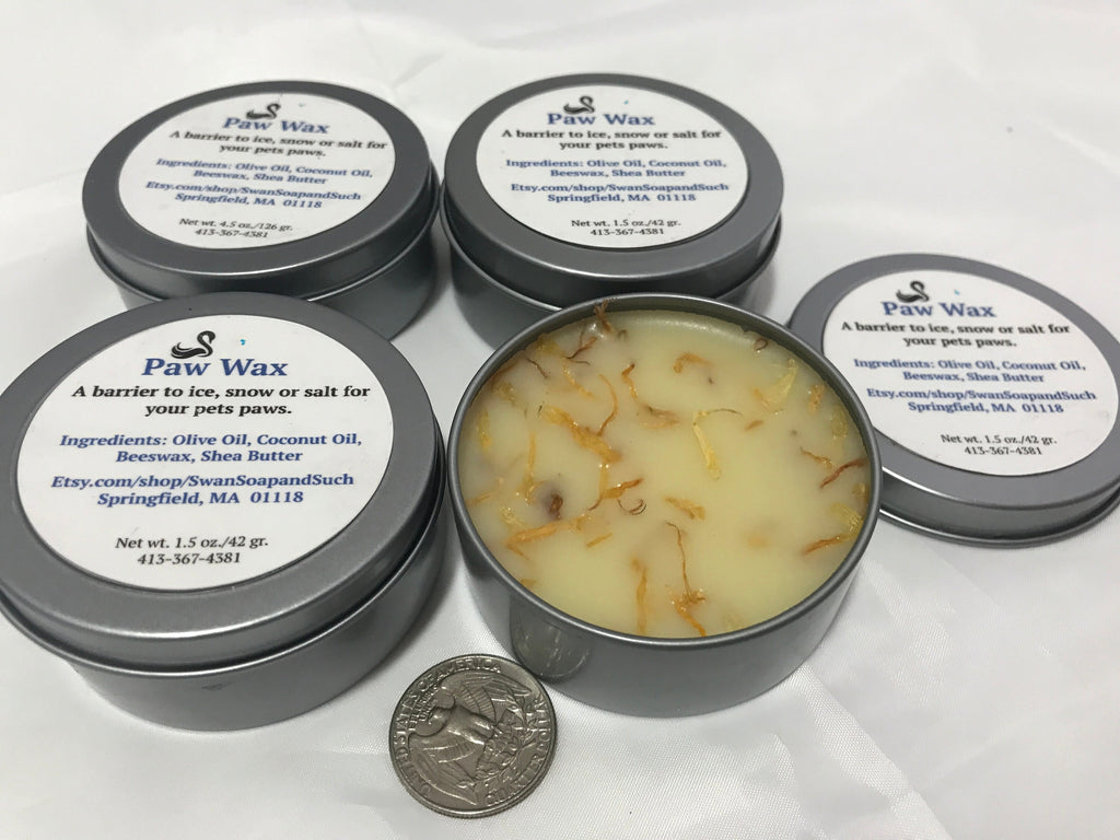 Paw Wax Paw Balm for Dogs and Cats 1.5 oz. with Calendula Flower Petals