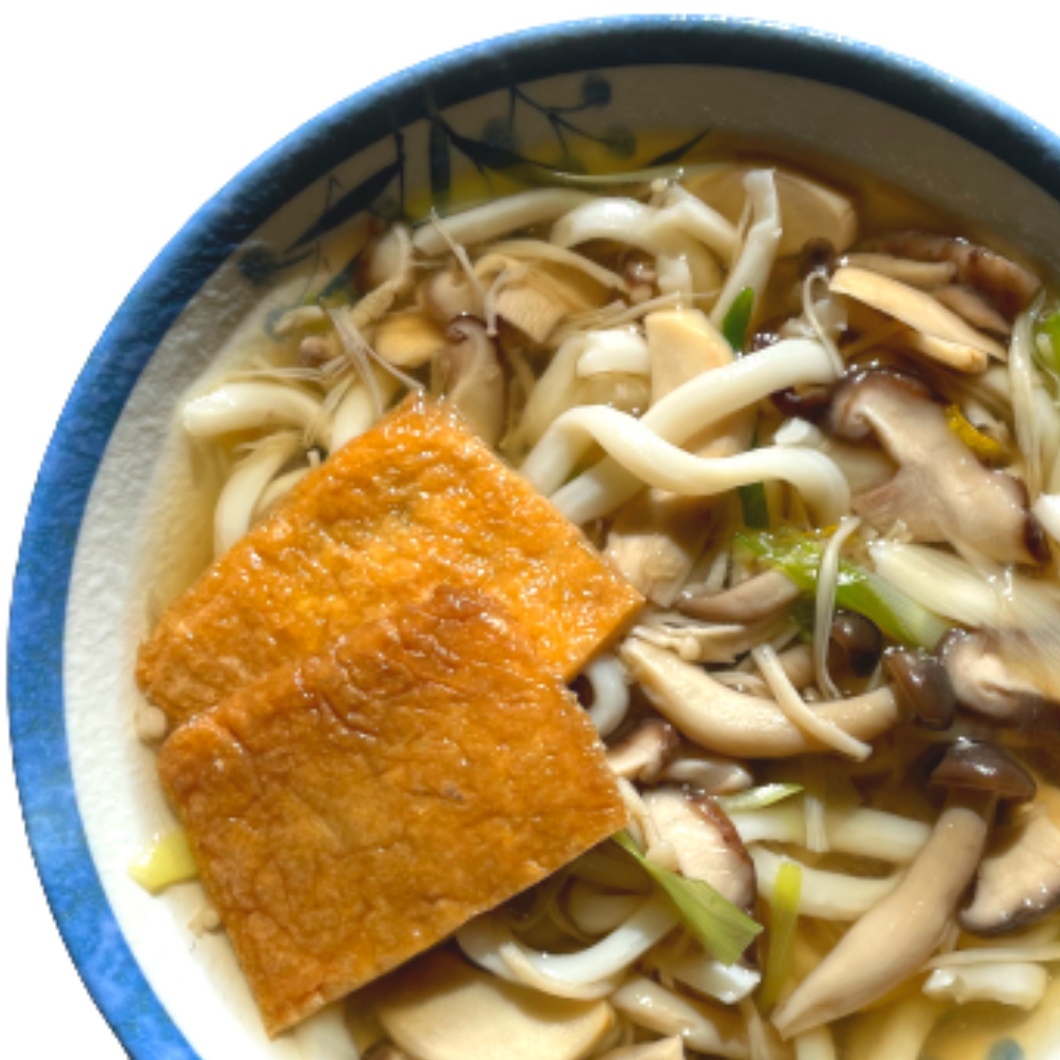 Mushroom and Yuzu Udon Noodles  【木の子と柚子のうどん】