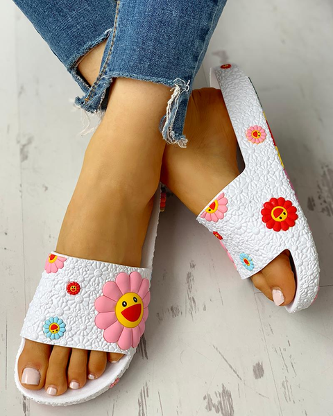 Colorful Sunflower Pattern Casual slippers