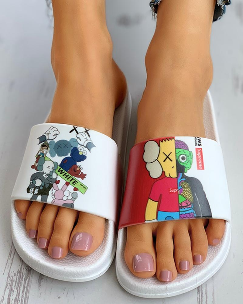 Cartoon Pattern Non-Slip Flat slipper
