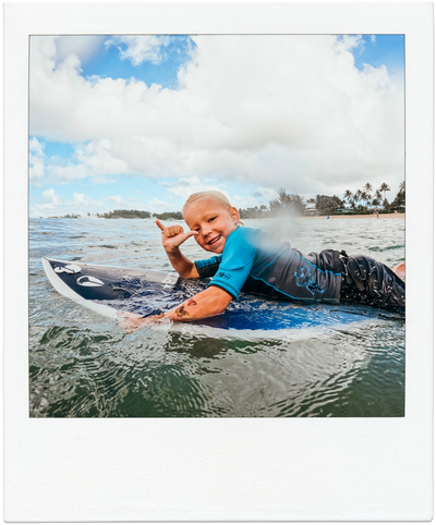 Teaching our kids to surf