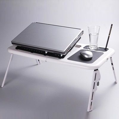 Super E Table Portable Foldable Laptop Table With USB Cooling