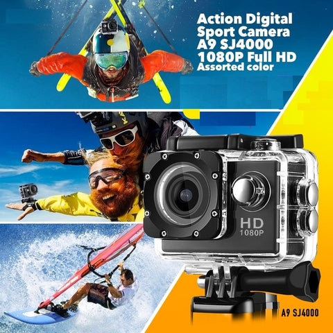 HD 1080p 12MP Waterproof Action Camera