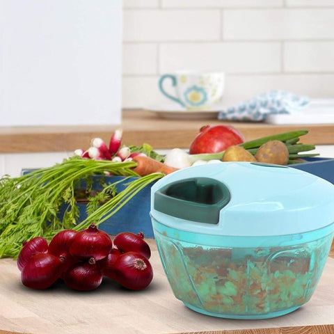 Manual Handy Vegetable Chopper, Cutter for Kitchen, with Stainless Steel Blade
