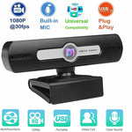 HD 480P Webcam Camera Video Calls, Built-in Mic, Plug and Play