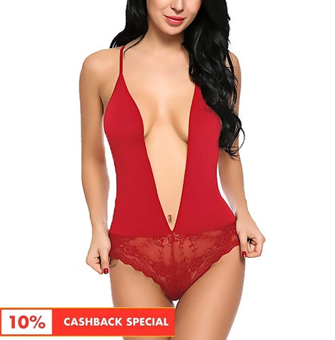 Women's Stylish Floral Babydoll Red- TS17