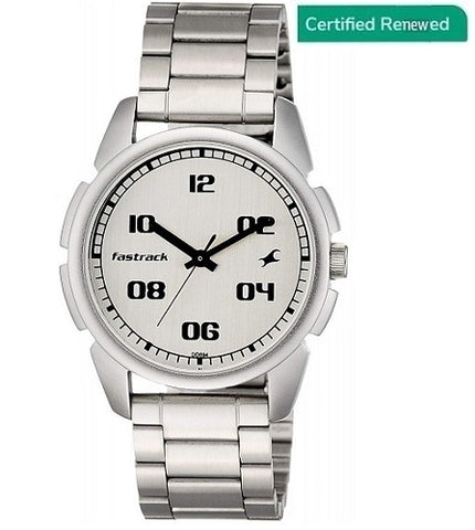 Fastrack Casual Analog Silver Dial Men's Watch - NL3124SM01