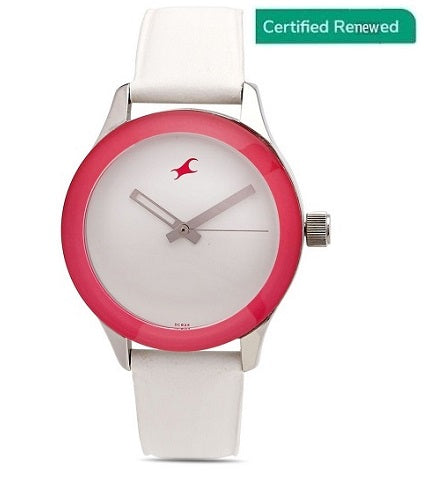 Fastrack Monochrome Analog White Dial Women's Watch - NL6078SL01