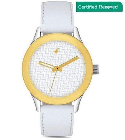 Fastrack Monochrome Analog White Dial Women's Watch - NL6078SL02