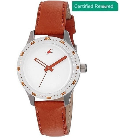 Fastrack Monochrome Analog White Dial Women's Watch - NK6078SL04