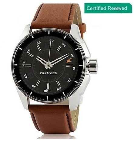 Fastrack Analog Black Dial Stylish Men's Watch - NK3089SL05