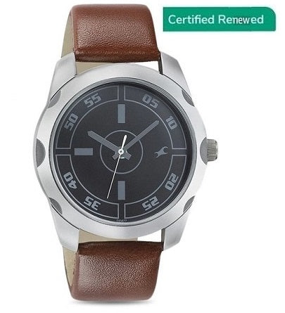 Fastrack Casual Analog Black Dial Men's Watch - NK3123SL03