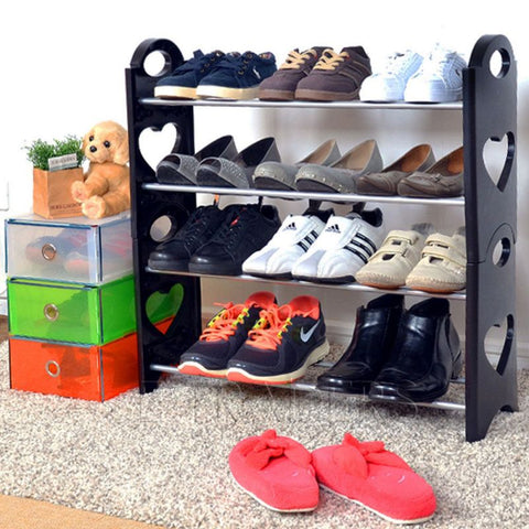 Stackable 4 Layer Multipurpose Shoe Rack