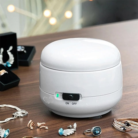Mini Ultrasonic Jewellery Cleaner - Quickly Removes Dirt, Dust & Grime