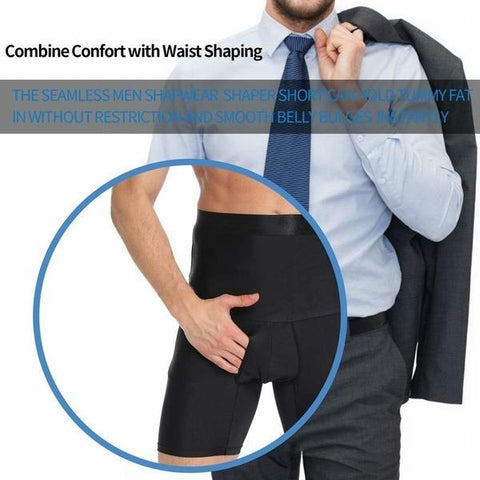 High Waist Boxers Slimming Belly Belt Underwear for Men