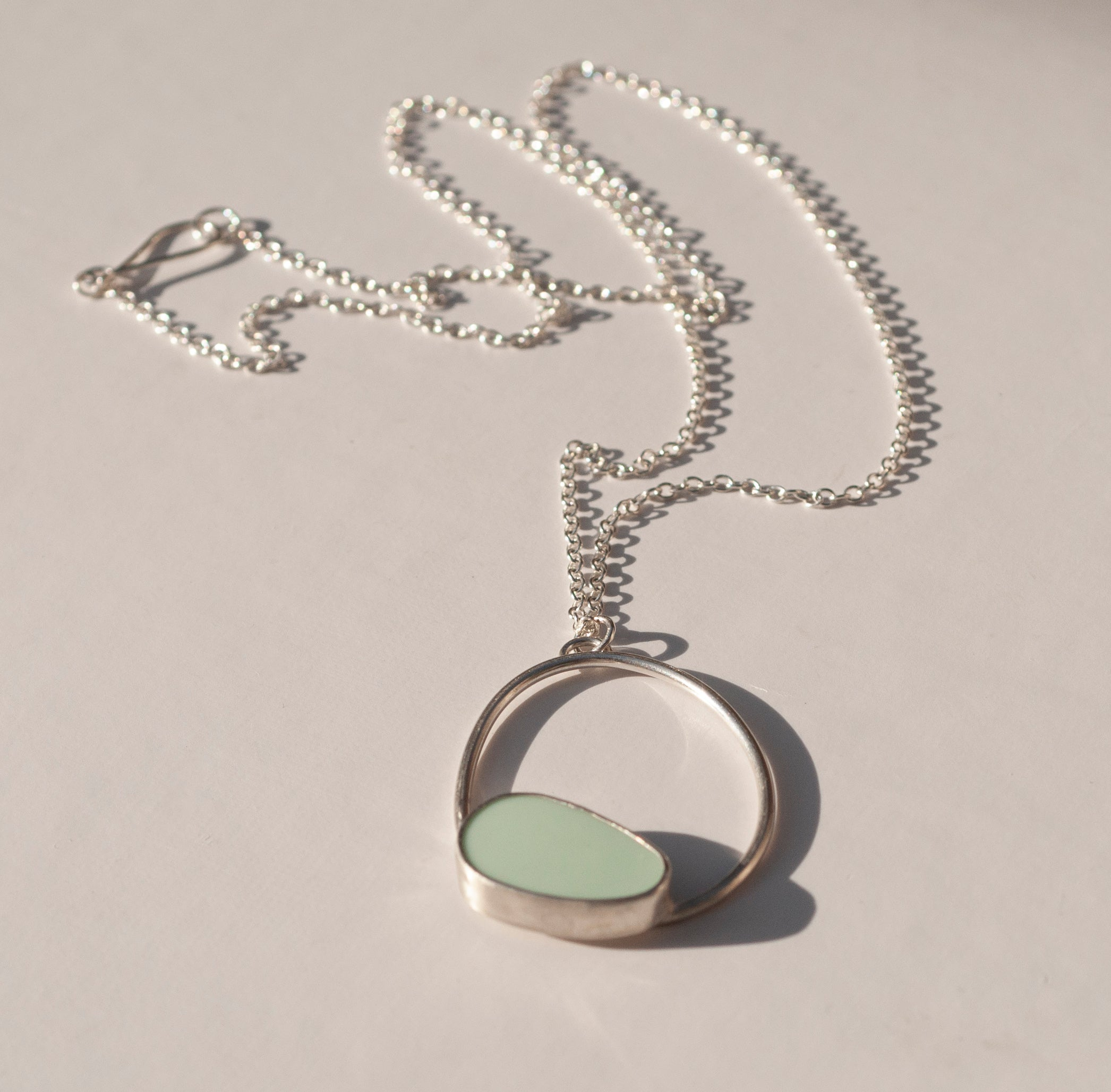 Single Pebble Necklace - Long