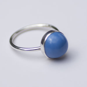 Archive Collection - Sea Blue Milk Sea Glass Ring