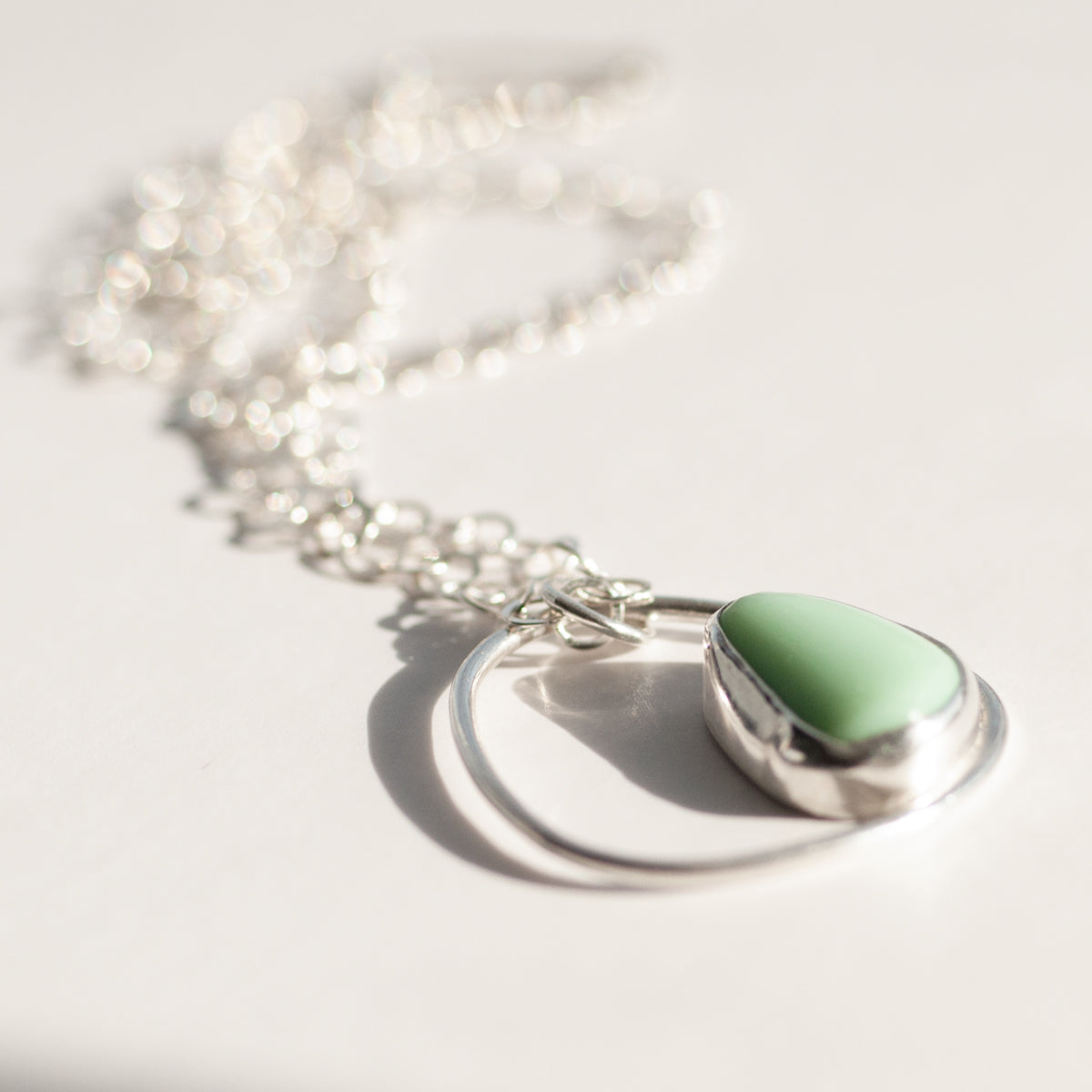 Single Pebble Necklace - Pendant Style