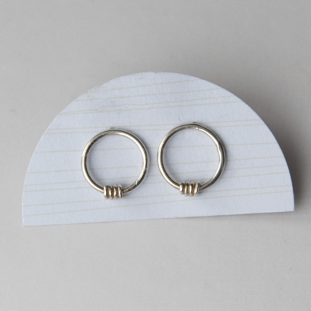 Twist Hoop Stud Earrings