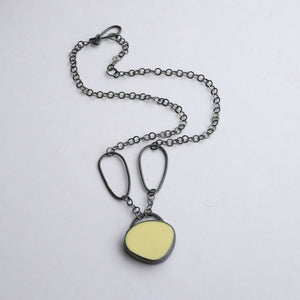 Yellow Pebble Link Necklace