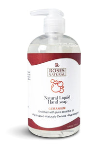 Natural Liquid Hand Soap - Geranium