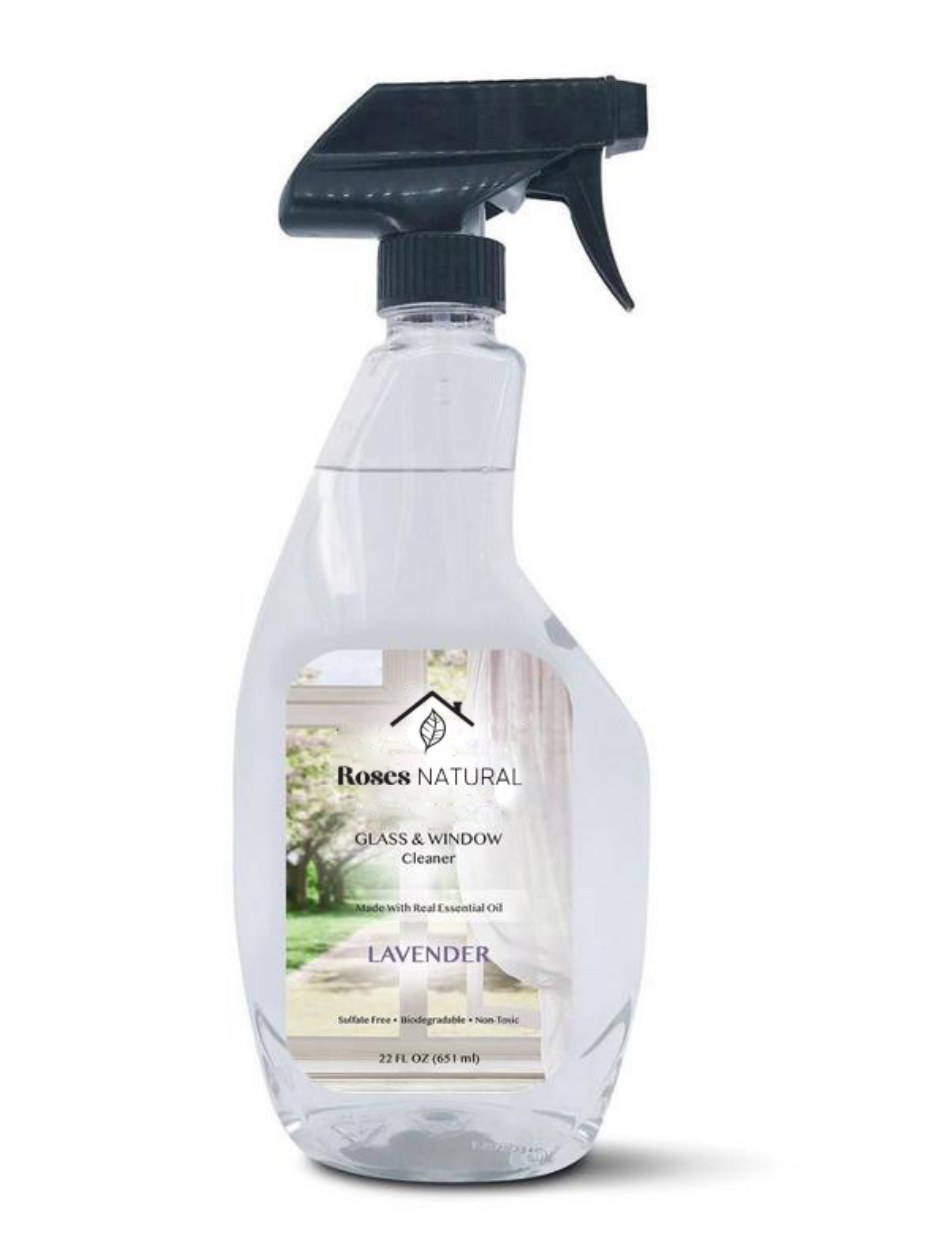 22 oz Natural Glass Cleaner - Lavender