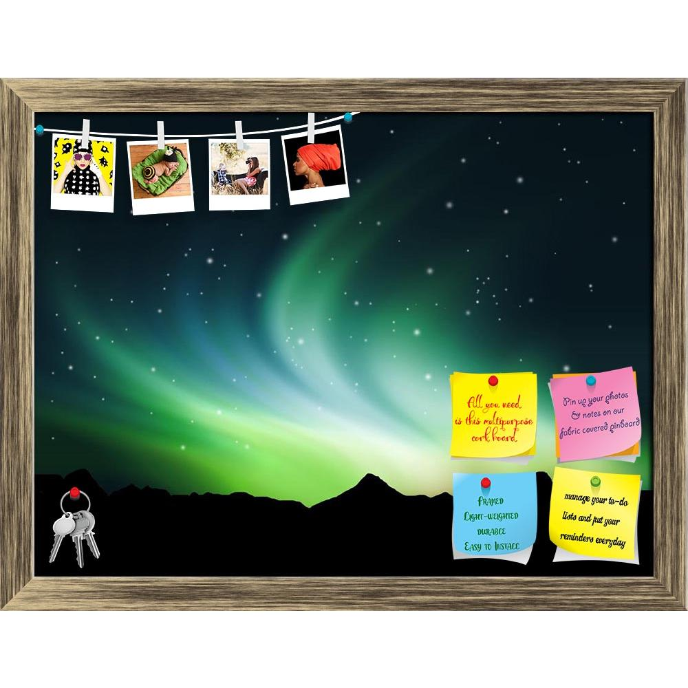 ArtzFolio Northern Lights In The Sky Printed Bulletin Board Notice Pin Board Soft Board | Framed-Bulletin Boards Framed-AZSAO7685245BLB_FR_L-Image Code 5000217 Vishnu Image Folio Pvt Ltd, IC 5000217, ArtzFolio, Bulletin Boards Framed, Landscapes, Places, Photography, northern, lights, in, the, sky, printed, bulletin, board, notice, pin, soft, framed, background, showing, aurora, polaris, light, landscape, tree, nature, clouds, borealis, leaf, pin up board, push pin board, extra large cork board, big pin boa