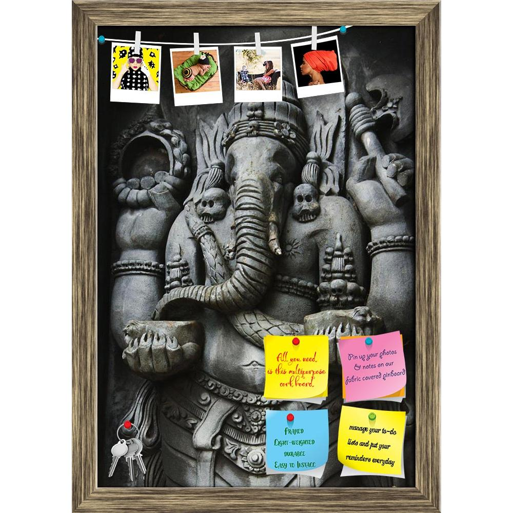 ArtzFolio Ganesha Printed Bulletin Board Notice Pin Board Soft Board | Framed-Bulletin Boards Framed-AZSAO7715637BLB_FR_L-Image Code 5000219 Vishnu Image Folio Pvt Ltd, IC 5000219, ArtzFolio, Bulletin Boards Framed, Places, Religious, Photography, ganesha, printed, bulletin, board, notice, pin, soft, framed, a, statue, one, hindu, gods, carved, style, javanese, art, pin up board, push pin board, extra large cork board, big pin board, notice board, small bulletin board, cork board, wall notice board, giant c