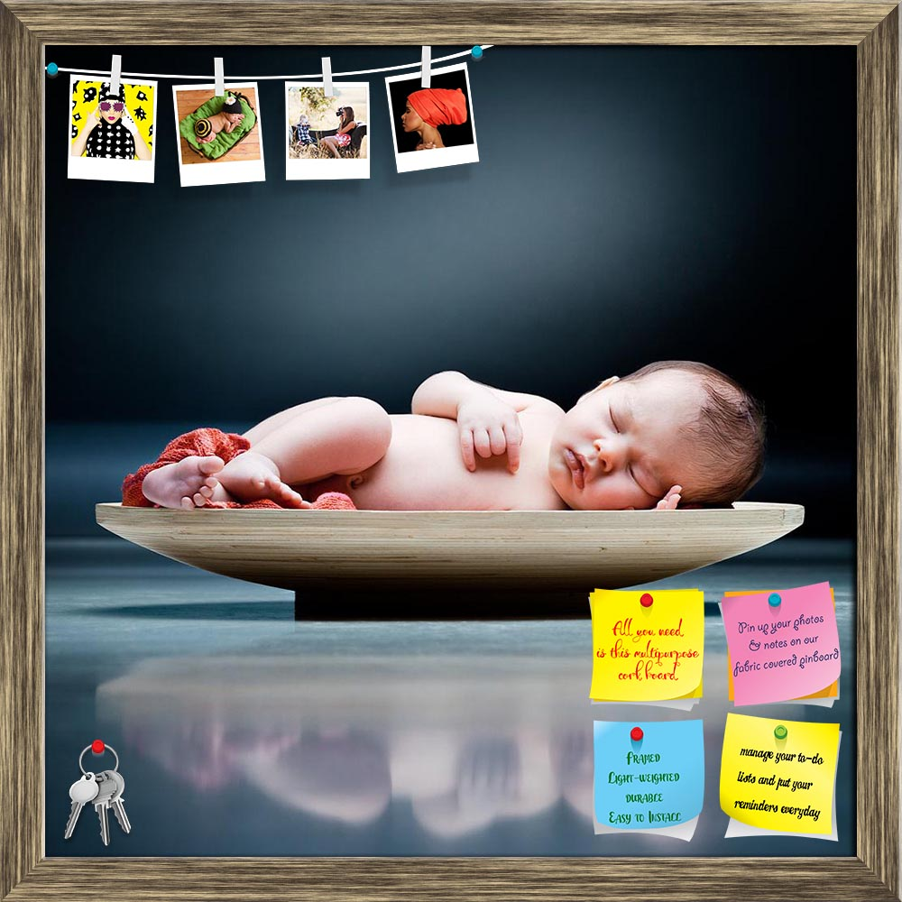 ArtzFolio Baby Sleeping On A Wooden Plate Printed Bulletin Board Notice Pin Board Soft Board | Framed-Bulletin Boards Framed-AZSAO8101609BLB_FR_L-Image Code 5000241 Vishnu Image Folio Pvt Ltd, IC 5000241, ArtzFolio, Bulletin Boards Framed, Kids, Photography, baby, sleeping, on, a, wooden, plate, printed, bulletin, board, notice, pin, soft, framed, two, weeks, old, pin up board, push pin board, extra large cork board, big pin board, notice board, small bulletin board, cork board, wall notice board, giant cor