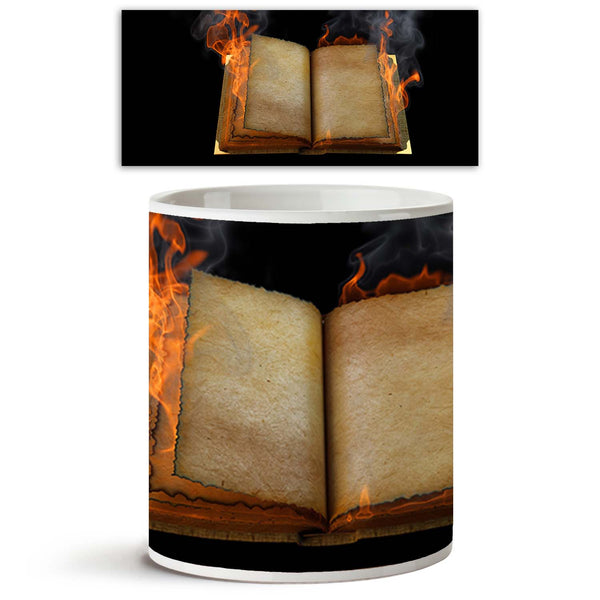 ArtzFolio Open Book In The Flame Ceramic Coffee Tea Mug Inside White-Coffee Mugs-AZKIT9094273MUG_L-Image Code 5000296 Vishnu Image Folio Pvt Ltd, IC 5000296, ArtzFolio, Coffee Mugs, Conceptual, Digital Art, open, book, in, the, flame, ceramic, coffee, tea, mug, inside, white, old, empty, isolated, black, coffee mugs with logo, promotional mugs, bulk coffee mug, office mugs, amazonbasics, custom coffee mugs, custom ceramic mugs, 11ounce ceramic coffee mug, coffee cup gift, tea mug, promotional coffee mugs, c